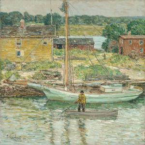 Oyster Sloop, Cos Cob 1902 by Frederick Childe Hassam