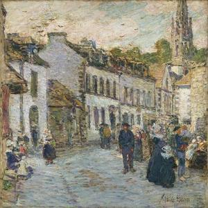 Street in Pont Aven, 1897 by Frederick Childe Hassam
