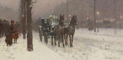 Street Scene with Hansom Cab, 1887