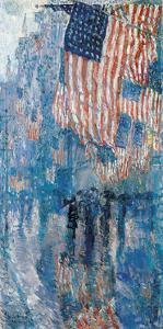 The Avenue in the Rain, 1917 by Frederick Childe Hassam