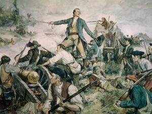 Battle of Lake George, 1755 by Frederick Coffay Yohn