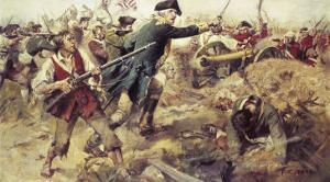 Gen John Starkat the Battle of Bennington,VT by Frederick Coffay Yohn