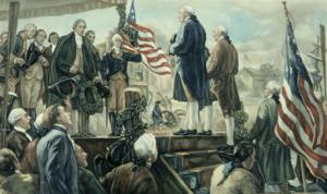 Washington Landing at Foot of Wall Street, NY by Frederick Coffay Yohn