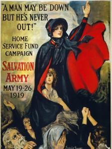 Salvation Army Poster, 1919 by Frederick Duncan