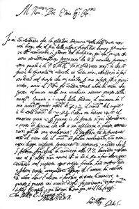 Letter by Galileo Galilei, 1627 by Frederick George Netherclift