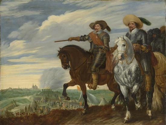 Frederick Henry and Ernst Casimir of Nassau-Dietz at the Siege of Hertogenbosch-Pauwels van Hillegaert-Art Print