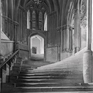 Interior Stairway of the Chapter House, Wells Cathedral by Frederick Henry Evans
