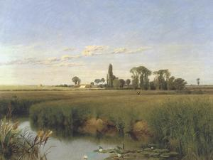 On the River Wey, Surrey, c.1859 by Frederick Hulme