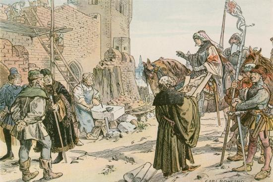 Frederick II at the Laying of the Foundations of the Castle on the River Spree in 1443-Carl Rohling-Giclee Print