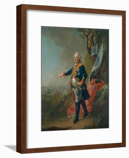 Frederick II, Landgrave of Hesse-Kassel, in the Officer's Uniform of the 45th Prussian Infantry…-Johann Heinrich Tischbein-Framed Giclee Print