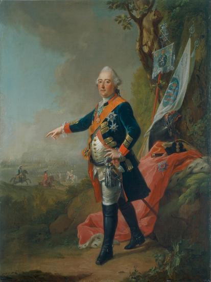 Frederick II, Landgrave of Hesse-Kassel, in the Officer's Uniform of the 45th Prussian Infantry…-Johann Heinrich Tischbein-Giclee Print