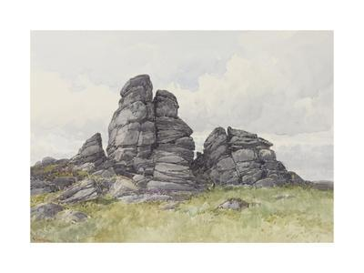 Vixen Tor, Near Merivale Bridge, Dartmoor , C.1895-96