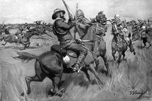 Battle of Blood River, 2nd Boer War, September 1901 by Frederick Judd Waugh