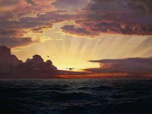 Ein Flug in der Morgendämmerung by Frederick Judd Waugh