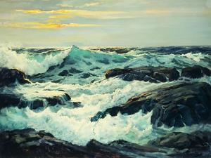 Surf and Headlands by Frederick Judd Waugh