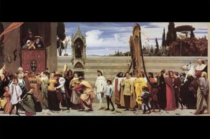 Cimabue's Celebrated Madonna by Frederick Leighton