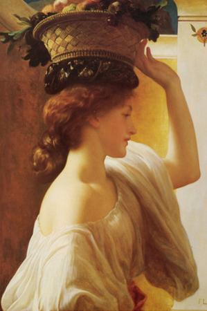 Eucharis - Girl with a Basket of Fruit by Frederick Leighton