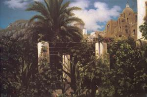 Garden, Capri Italy by Frederick Leighton