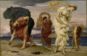 Greek Girls Picking up Pebbles by the Sea by Frederick Leighton