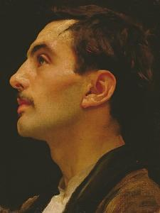 Head of an Italian Model, C.1855 by Frederick Leighton