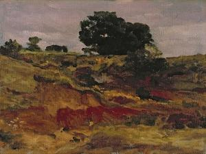 Sketch for a Landscape, 'View in Bedfordshire', C.1890 by Frederick Leighton