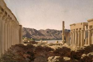 The Temple of Philae, 1868 by Frederick Leighton