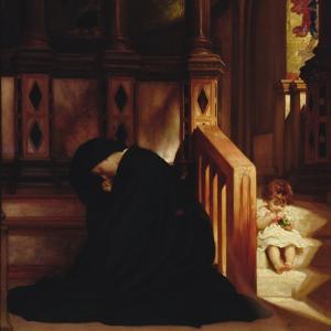 The Widow's Prayer, c.1864/65 by Frederick Leighton