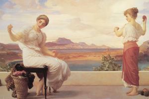 Winding the Skein by Frederick Leighton
