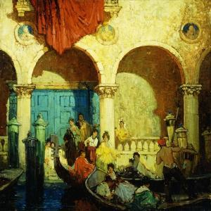 A Canal in Venice by Frederick M. Grant