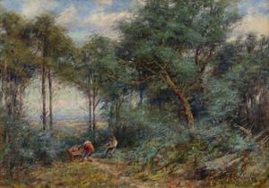Hauling Rails for a Fence, Mount Macedon, 1910 by Frederick McCubbin
