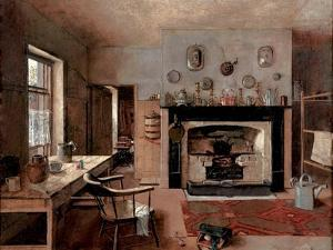 Kitchen at the Old King Street Bakery, 1884 by Frederick McCubbin