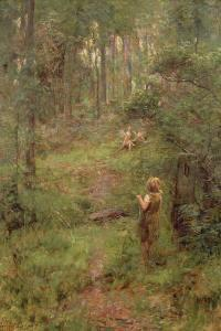 What the Little Girl Saw in the Bush, 1904 by Frederick McCubbin