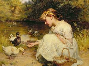 Making Friends, 1885 by Frederick Morgan