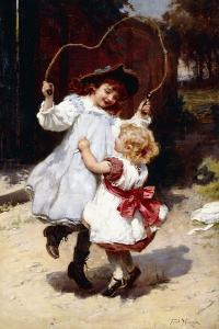Skipping, C.1896 by Frederick Morgan