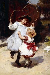 Skipping, C.1896 by Frederick Morgan