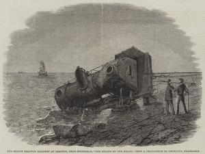 The Recent Railway Accident at Granton, Near Edinburgh, the Engine on the Beach by Frederick Morgan