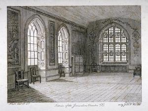 Interior View of the Jerusalem Chamber in Westminster Abbey, London, 1805 by Frederick Nash