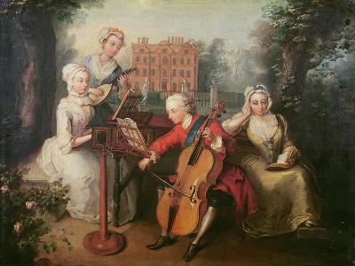 Frederick, Prince of Wales and His Sisters, 1733-Philippe Mercier-Giclee Print