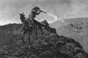 Outlaw in the American West by Frederick Remington