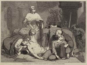 Burial of Harold at Waltham Abbey by Frederick Richard Pickersgill