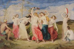 Mercury Instructing the Nymphs in Dance, 1848 by Frederick Richard Pickersgill