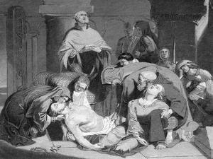 The Burial of Harold at Waltham Abbey, (C184) by Frederick Richard Pickersgill