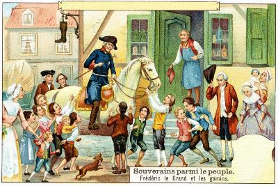 Frederick the Great of Prussia with the Urchins--Giclee Print