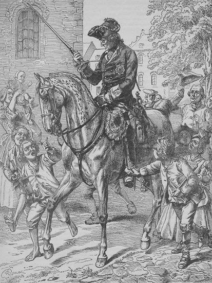 Frederick the Great of Prussia-English School-Giclee Print