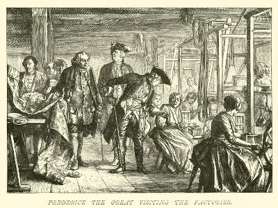 Frederick the Great Visiting the Factories--Giclee Print