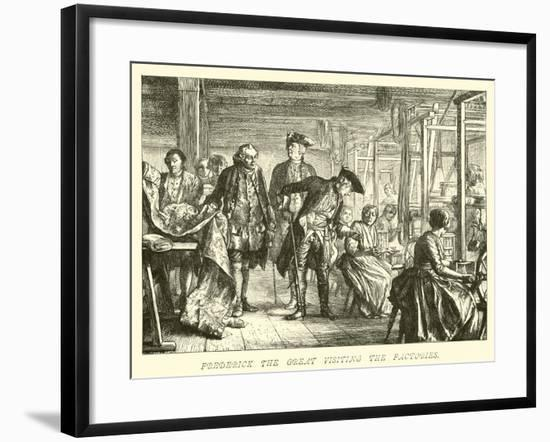 Frederick the Great Visiting the Factories--Framed Giclee Print