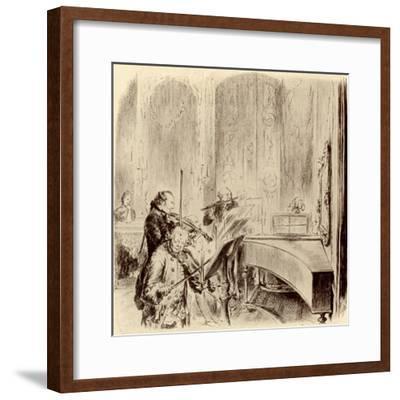FREDERICK THE GREAT --Adolph Friedrich Erdmann von Menzel-Framed Premium Giclee Print