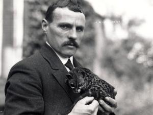Charlie Dixon with Genet, 1916 by Frederick William Bond