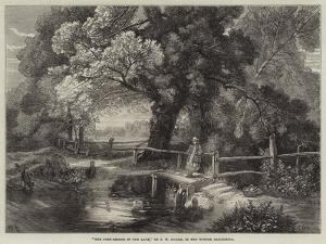 The Foot-Bridge in the Lane by Frederick William Hulme