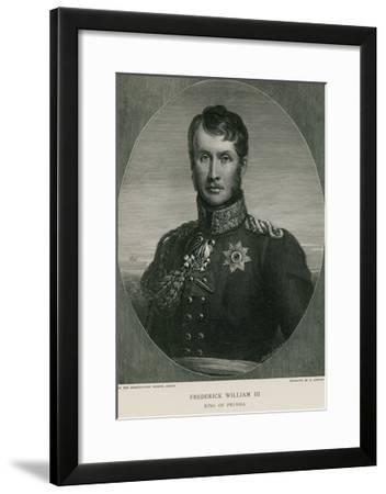 Frederick William III of Prussia--Framed Giclee Print